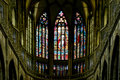 Art Nouveau Painter Alfons Mucha Stained Glass Window In St. Vitus Cathedral, Prague Stock Photos - 47403513