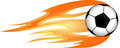 Flaming Ball For Sport Design. Royalty Free Stock Photo - 47408425