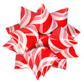 Christmas Candy Cane Bow Royalty Free Stock Photo - 47414485
