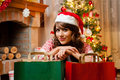 Holiday Happy Girl After Shopping Royalty Free Stock Photography - 47423807