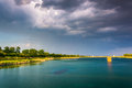 Storm Clouds Over Druid Lake, At Druid Hill Park In Baltimore, M Royalty Free Stock Images - 47446029