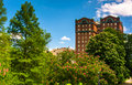 Trees And A Building At Druid Hill Park, In Baltimore, Maryland. Stock Photos - 47456423