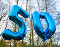 50 Year Old Today Balloon Stock Image - 47465791