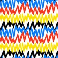 Striped Hand Drawn Pattern With Zigzag Lines Stock Photography - 47473232