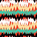Striped Hand Drawn Pattern With Zigzag Lines Royalty Free Stock Photos - 47473258