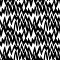 Striped Hand Drawn Pattern With Zigzag Lines Stock Image - 47473271