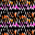 Striped Hand Drawn Pattern With Zigzag Lines Royalty Free Stock Photo - 47473285