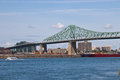 Jacques Cartier Bridge Spanning The St. Lawrence Seaway In Montr Stock Image - 47480051