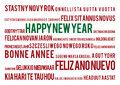 Happy New Year  In 22 World Languages Stock Photography - 47485452