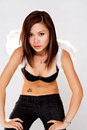 Gorgeous Girl With A Pair Of Angel Wings Stock Photography - 4750192