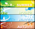 Seasonal Banners Royalty Free Stock Photography - 4751907