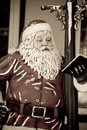 Santa Claus Christmas Figure Leaning Against A Lig Stock Photo - 4752350