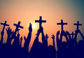 Hands Holding Cross Christianity Religion Faith Concept Royalty Free Stock Photo - 47503545