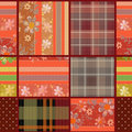 Abstract Seamless Patchwork Checkered Plaid Textile Design Patte Stock Photography - 47507852