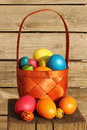 Easter Eggs In Basket Stock Photo - 47509030