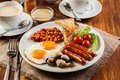English Breakfast With Sausage Stock Photo - 47519420
