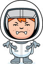 Angry Boy Astronaut Royalty Free Stock Photo - 47525445