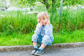 Outdoor Portrait Of A Cute Little Boy Royalty Free Stock Photography - 47527777