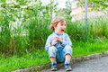 Outdoor Portrait Of A Cute Little Boy Stock Images - 47527874