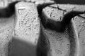 Rain Drops On A Tire Stock Images - 47530214