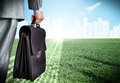 Businessman With Suitcase Royalty Free Stock Images - 47531589