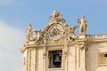 Clock And Bell At St. Peter S Basilica In The Vatican Stock Images - 47550384