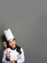 Female Chef Cooking Thinking What To Cook Royalty Free Stock Images - 47556749