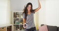 Pretty Woman Dancing In Her Living Room Royalty Free Stock Photo - 47558125