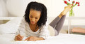 Young Black Woman Writing In Journal Royalty Free Stock Photos - 47558598