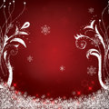 Abstract Winter Red Snowflakes Stock Image - 47562391