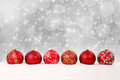 Christmas Balls And Snow On Abstract Background Royalty Free Stock Photo - 47569225