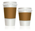 Take-out, To Go Coffee Cup Big And Small Stock Photo - 47570810