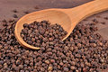 Black Pepper In A Spoon Stock Image - 47581551