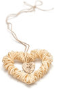 Love Hearts, Valentines Day. Heart Made Of Straw Stock Images - 47595194
