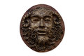 Bas-relief Faunus  Of The Greek Deity Made On Wood Isolated On W Stock Photography - 47597482