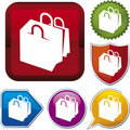 Icon Series: Shopping Bags Royalty Free Stock Images - 4766169