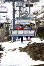 Skiers On Chairlift Stock Photo - 4769810
