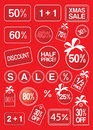 Christmas Sale And Discount Labels And Tags Stock Photos - 47612233