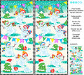 Find The Differences Picture Puzzle - Playful Snowmen Stock Photography - 47615462
