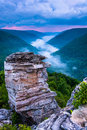 Fog In The Blackwater Canyon At Sunset, Seen From Lindy Point, B Royalty Free Stock Photography - 47644217