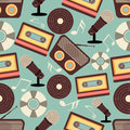 Musical Instruments Pattern. Royalty Free Stock Photography - 47647247