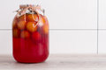 Canned Plums Stock Images - 47654124