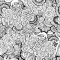 Seamless Asian Floral Retro Background Pattern. Royalty Free Stock Photography - 47662607