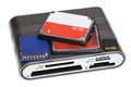 Cf Card Sd Md Mmc Micro Sd M2 Ms Duo Reader Multi Memory For Cam Royalty Free Stock Photo - 47667505