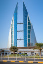 Modern Building Of Bahrain World Trade Center, Manama Royalty Free Stock Images - 47672749