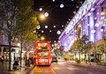 13 November 2014 View On Oxford Street, London, Decorated For Christmas And New Year Stock Images - 47675774