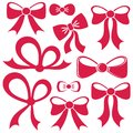 Red Vector Bows Stock Images - 47680674