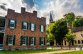 Dramatic Sky Over Historic Buildings In Harper S Ferry, West Vir Stock Photography - 47682452