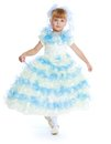 Charming Girl In White And Blue Dress. Stock Photography - 47685612