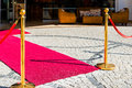 Paving Stones And Red Carpet Royalty Free Stock Photos - 47685638